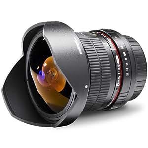Walimex Pro 8 mm 1:3,5 DSLR Fish-Eye II Objektiv für Olympus Four Thirds Objektivbajonett schwarz