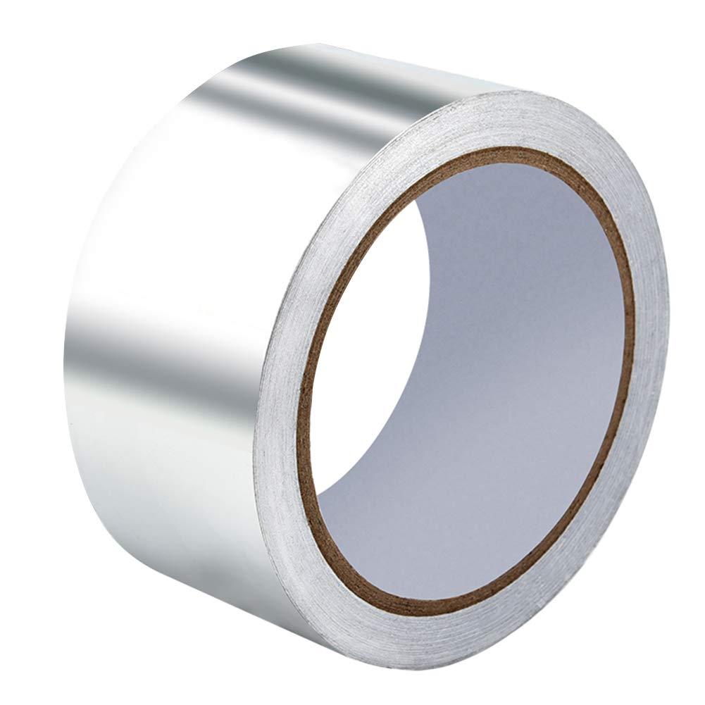 Irich Cinta Adhesiva de Aluminio para Aislamiento, Cinta de Metal Resistente a Altas temperaturas (5 cm x 20 m), Sliver1, 20 m