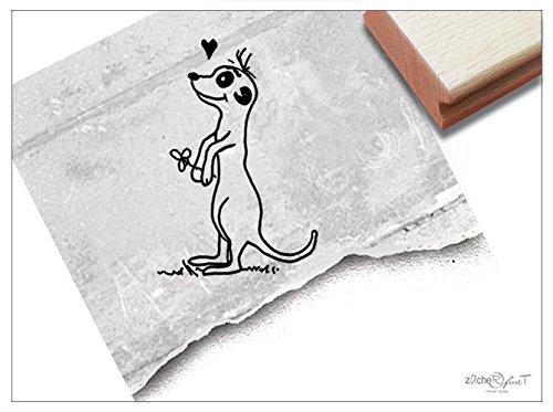 Stempel - Kinderstempel ERDMÄNNCHEN mit Herz - Motivstempel Bildstempel Lehrerstempel Geschenk für Kinder Einschulung Schultüte - zAcheR-fineT
