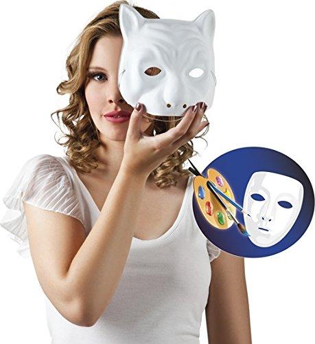 Generique - Weiße Katzen-Maske zum Gestalten für Erwachsene (Erwachsene Für Maske Katze)