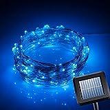 Hrph La energía solar luz de la secuencia de los 10M 100 LED Tira Hilo de alambre de cobre de luz para la decoración de jardín Vida al aire libre