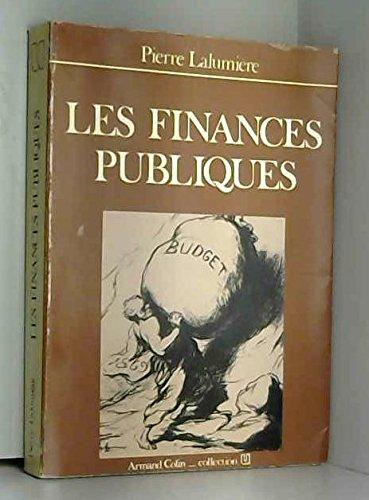 Les finances publiques par Lalumiere
