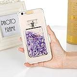 leihao888 Cas de téléphone Liquide de Paillettes pour iPhone X XS Max XR 8 7 6S 6 Plus 5 5S Se Cas Mignon Mode Brillant à Motifs Soft Hard Cover pour iPhone XS Pruple