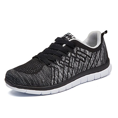 Men's Cotton Damping Breathable Outdoor Running Shoes Black