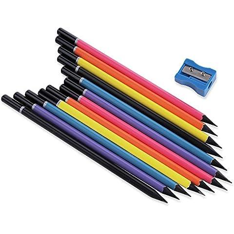 L'alta qualità di scrittura matita Set, 12 PCS HB con temperamatite (12 matite HB scrittura)