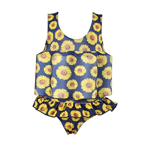 EisEyen Kids Bojen-Badeanzug Jungen Mädchen Unisex Badenanzug mit Schwimmkraft Baby Schwimmhilfe Schwimmweste Size S (Gelb)