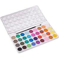 ULTNICE 36PCS Kit de peinture pour aquarelle Fondamentaux Ensemble d'aquarelle Set avec 1 pinceau