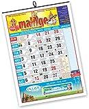 #10: Mallige Panchanga Darshini (English) Wall Almanac 2018 by THE BANGALORE PRESS (Pack of 2)