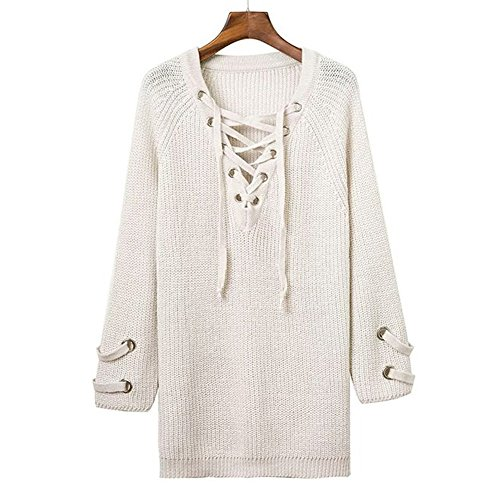 Erica Pull Femme Col V Manches Longues Sillonnent Tricoté Tricots