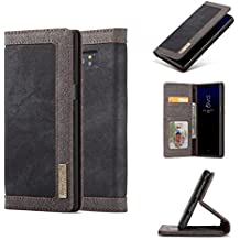 SongNi®[Waterproof Cowboy Wallet] with Magnet Flip Card Slots [Kickstand] Cover for Samsung Galaxy Note 8-Black