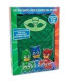 Giochi Preziosi Super Pigiamini PJ Masks Costume Carnevale Geco, Taglia 3/4 Anni per Bambini, PJA01100, Verde