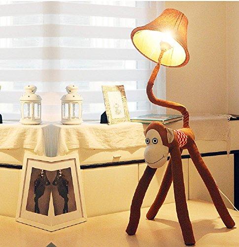 Kesierte I bambini in camera Lampada di coda angolo regolabile Bent arti della scimmia del fumetto del tessuto creativo Lampada da comodino Camera da 49.2inch lampada da terra , a