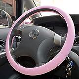 Coperchio del volante in silicone di Demana Copertura di protezione elastica antiscivolo universale per diametro 36-38 cm/14-15 pollici (rosa)