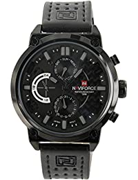 Naviforce - Montre Homme Cuir Noir Mvt Citizen NAVIFORCE 738