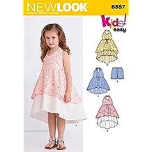 New Look 6387 Dimensione di Un Bambino Vestito Tunica e Bicchierini Modello  per Abiti 0c33e5f326c9