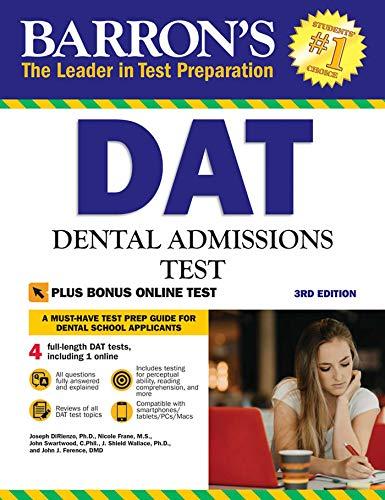 Barron's DAT: Dental Admissions Test (Barron's How to Prepare for the Dental Admissions Test (Dat))