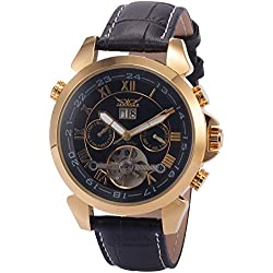 AMPM24 Mens Leather Automatic Mechanical Classic Mens Wrist Watch Golden + AMPM24 Gift Box PMW014