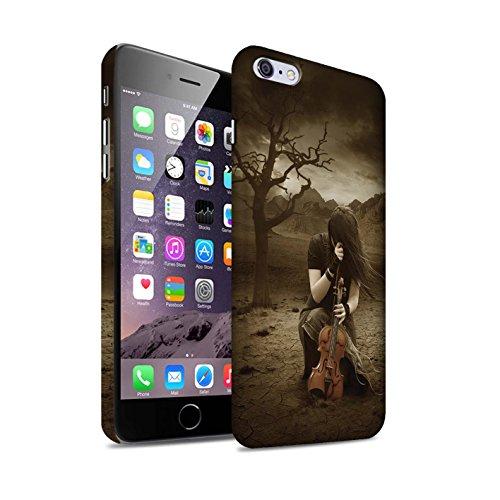 Officiel Elena Dudina Coque / Clipser Matte Etui pour Apple iPhone 6S+/Plus / Mélodie du Silence Design / Réconfort Musique Collection Abandonné