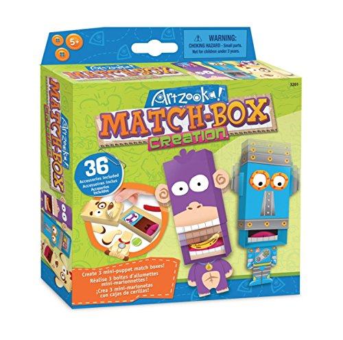 Artzooka - Basteln Kinder - Streichholzschachtel Bastelset in verschiedene Motiven - Geschenke für Kinder - SMU-3201