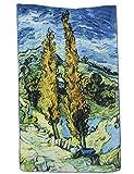 Prettystern P1877 - Langer Seidenschal Seidenmalerei Kunstdrucke Van Gogh - Vase mit Oleander