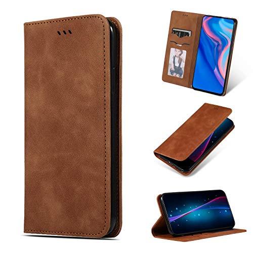 Handyhülle für Xiaomi Redmi Note 7 Hülle Geschäft Case Cover Leder Tasche Flipcase Schutzhülle Silikon Handytasche Skin Ständer Klapphülle Schale Bumper Magnetverschluss Fächer Brieftasche Brown