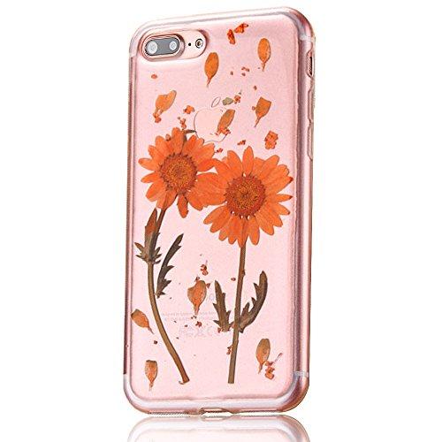 """iPhone 7Plus Schutzhülle, iPhone 7Plus Soft TPU Handytasche, CLTPY Modisch Durchsichtige Rückschale im Getrocknete Blumenart, [Stoßdämpfung] & [Kratzfeste] Full Body Case für 5.5"""" Apple iPhone 7Plus ( Floral 13"""
