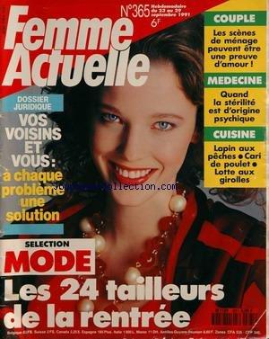FEMME ACTUELLE [No 365] du 23/09/1991