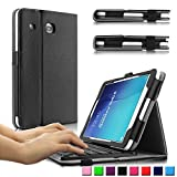 Samsung Galaxy Tab E 8.0 Keyboard Case, Infiland Folio Slim Fit PU Leather Case Cover with Magnetically Detachable Bluetooth Keyboard For Samsung Tab E 8.0-Inch SM-T377 4G LTE Tablet, Black