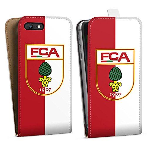 Apple iPhone X Silikon Hülle Case Schutzhülle FC Augsburg Fanartikel Bundesliga Downflip Tasche weiß