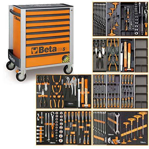 Beta C24SA - Carro de herramientas con sistema de inclinación y 191 herramientas