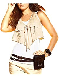 APART Fashion - Débardeur - Asymétrique - Opaque - Femme Beige weiß-beige