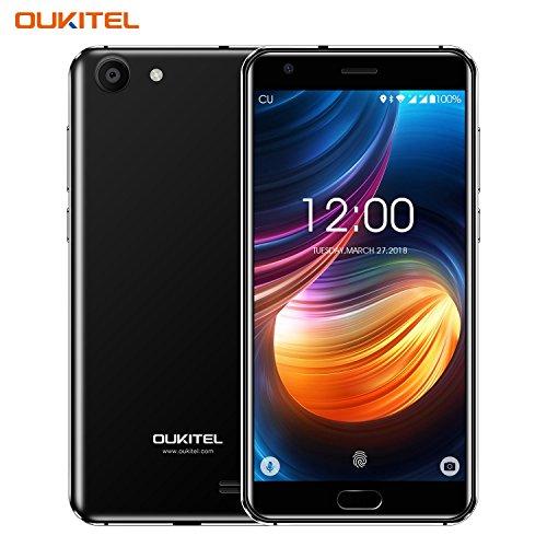 Günstiges Handy, Oukitel K4000 Plus 4g Dual Sim Smartphone Ohne Vertrag 5.0 Zoll 4100mAh großem Akku Android Handy mit fingerabdrucksensor, 13.0MP Hauptkamera, 2GB RAM+16 GB ROM, Bluetooth -Schwarz