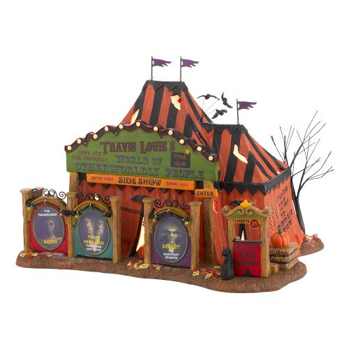 8 Snow Village Halloween from Department 56 Trv Louie Otherworldly Persons Lit House, 6.89-Inch by Department 56 (Person Halloween)
