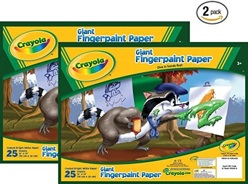 Crayola 99-3405 25 Count Giant Fingerpaint Paper by Crayola (Crayola Fingerpaint)