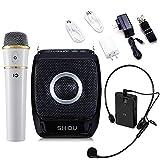 winbridge 25W Mini Portable recargables Voice Amplifier PA Sistema con UHF Compact Handheld Micrófono inalámbricas para karaoke, profesores, viaje Escalera, Trainer