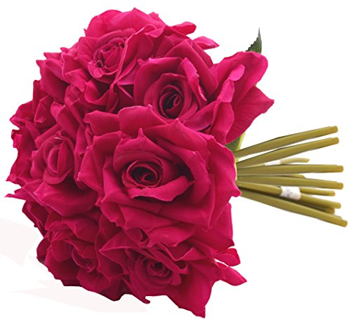 Fourwalls Artificial Rose Bouquet (26 cm, Rani, 10 Flower Stems)