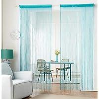 hsylym tejer cortina de paneles denso poliéster cortina de flecos Fly pantallas habitación separador para puerta ventana decoraciòn