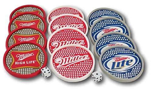 miller-beer-plastic-bar-coaster-12-piece-set-four-each-of-miller-miller-lite-and-miller-high-life-co