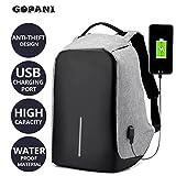 #6: Gopani Polyester 13 LTR Grey Laptop Bags for Man Laptop Backpack