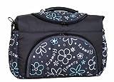 TP-20 Wickeltasche PIA von Baby-Joy XXXL Übergröße Graphit Blumen IV Windeltasche Pflegetasche Babytasche Tragetasche