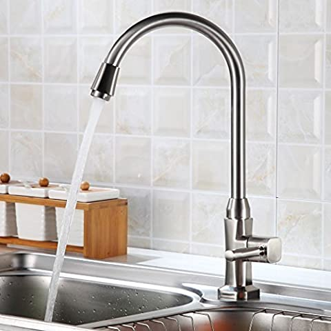 Auralum® Elegante de Alta Calidad Grifo Cocina Grifo de Agua Fría del Grifo del Fregadero para el Fregadero de la Cocina