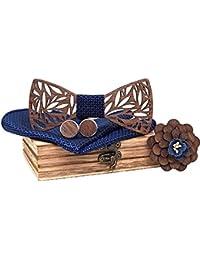 Noeud papillon bois fait main , chic et tendance, accessoire mode ou idée cadeau. Ajustable facilement.