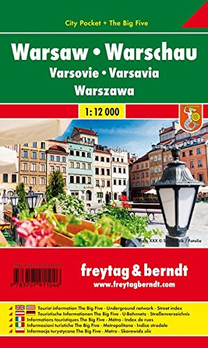 Varsovia 1:12.000 plano callejero plastificado. Freytag & Berndt. (Small city map)