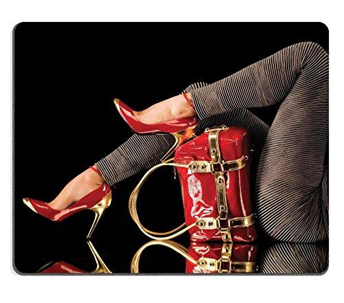 Luxlady Gaming Mousepad Juego Bolsa zapatos rojo estudio