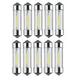 Raysen 10 X 36 Mm 1 W LED Soffitte COB SMD Canbus Voiture C5 W Blanc 12 V éClairage D'IntéRieur