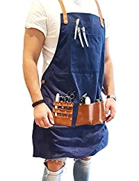 BARBER PRO Barber Apron (Denim Blue)