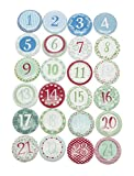VBS Adventszahlen Nordic, 24 Stück Adventskalender Advent Kalender basteln Zahlen
