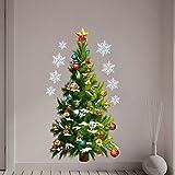 CLOOM Weihnachtsbaum Wandaufkleber Weihnachtsdeko Weihnachten Wandbild entfernbare Wand Aufkleber heiraten Weihnachtsdekor Aufkleber Abnehmbarer Grün Wandaufkleber Kinderzimmer Wandtattoo (Grün)