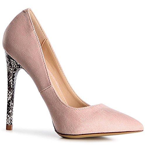 topschuhe24, Scarpe col tacco donna Rosa