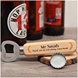 Personalised Teacher Wooden Bottle Opener Gifts - Unique Female Male Teacher Thank You Gifts - Drinks Bottle Opener Gifts for Teacher, Sports Coach, Head Teacher - School Leaving Gifts